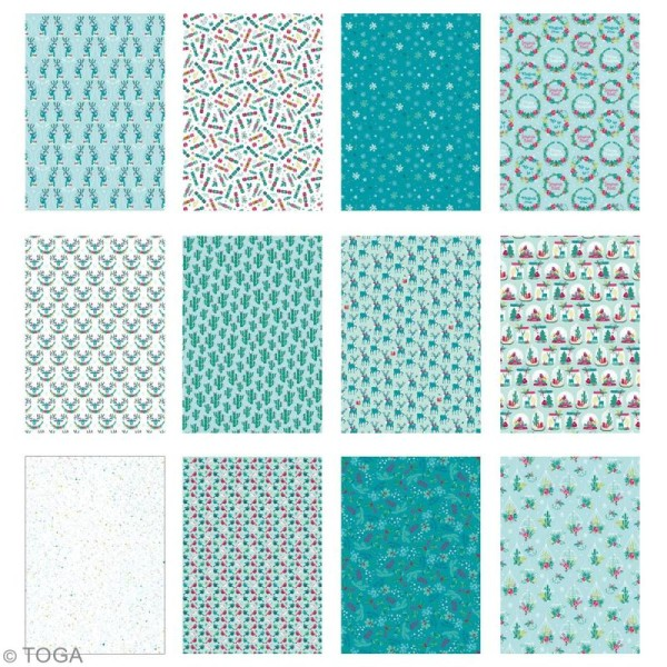Papier scrapbooking A4 Toga - Color factory - Renne  - 36 pcs - Photo n°3
