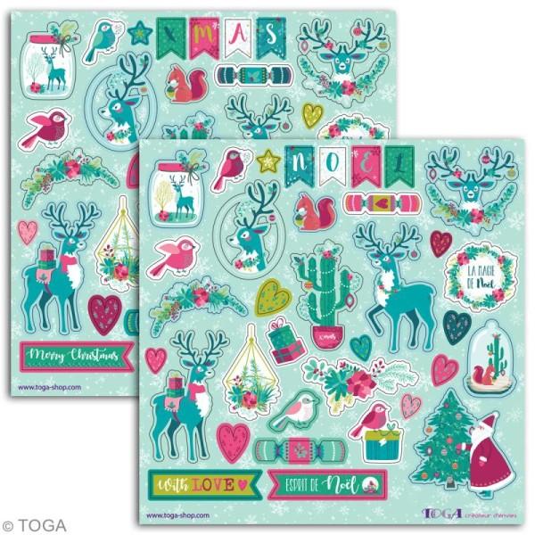 Stickers Toga - Renne  - 2 planches de 15 x 15 cm - 70 pcs - Photo n°2