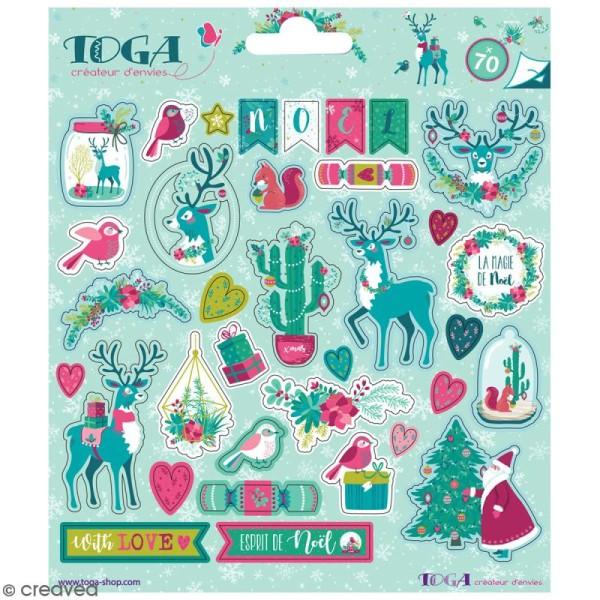 Stickers Toga - Renne  - 2 planches de 15 x 15 cm - 70 pcs - Photo n°1