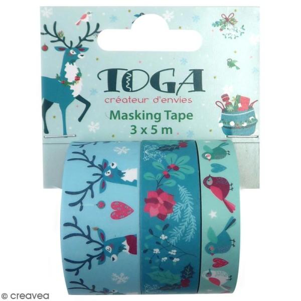 Masking tape Toga - Renne  - 3 pcs - Photo n°1