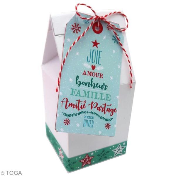 Set étiquettes imprimées et ficelle twine Toga - Noël - 20 pcs - Photo n°2