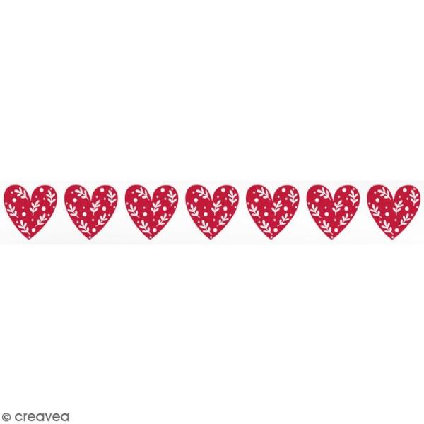 Masking tape Toga - Coeurs rouges - 1,5 cm x 10 m - Photo n°1