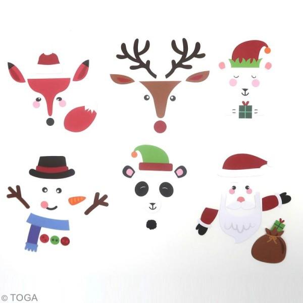 Set Die cut Toga - emballage cadeau DIY Noël - 52 pcs - Photo n°2