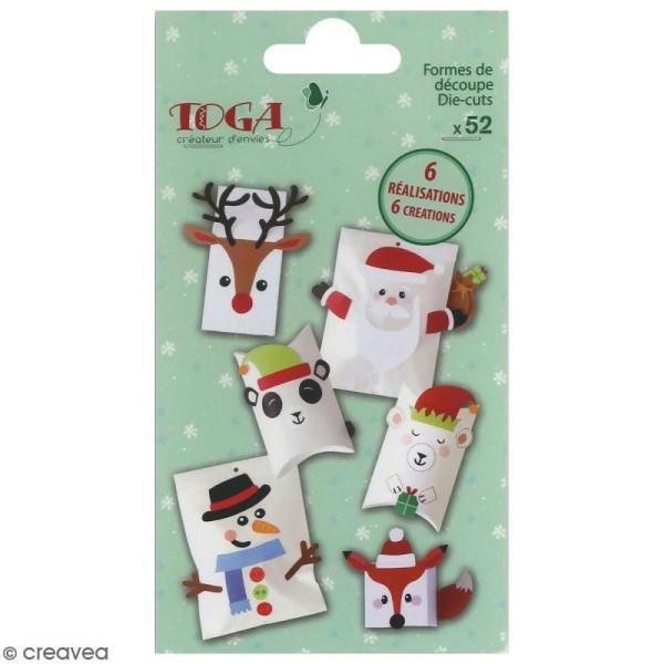 Set Die cut Toga - emballage cadeau DIY Noël - 52 pcs - Photo n°1