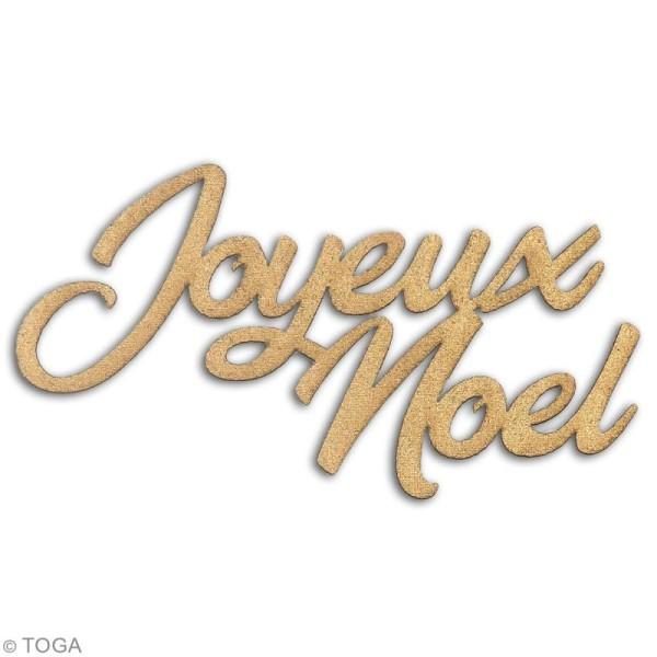 Die cuts Joyeux Noël L'Or de Bombay - Paillettes dorées - 9 pcs - Photo n°2