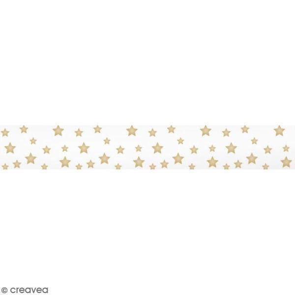 Masking tape Toga - Etoiles dorées - 1,5 cm x 10 m - Photo n°1