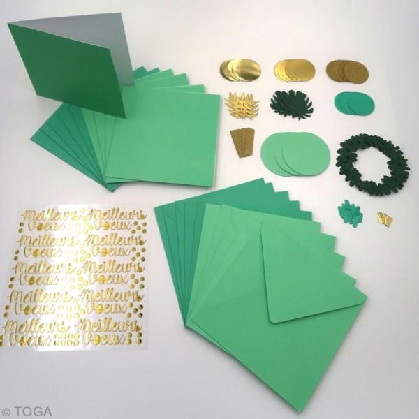 Kit cartes de voeux diy - L'or de Bombay - 13,5 x 13,5 cm - 10 pcs - Photo n°3