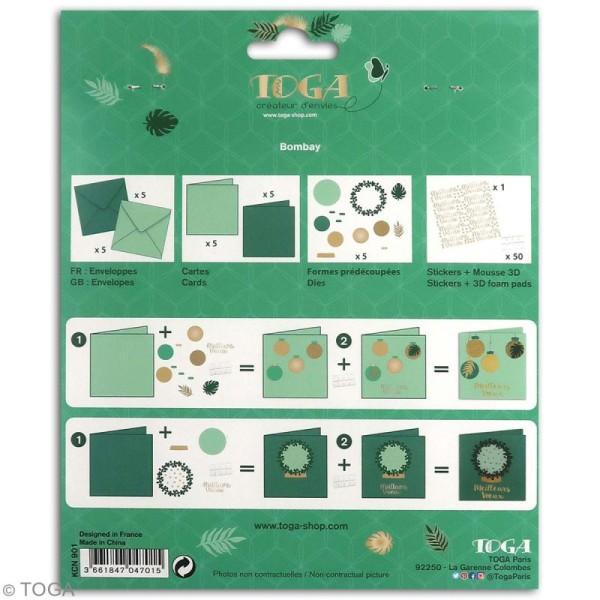 Kit cartes de voeux diy - L'or de Bombay - 13,5 x 13,5 cm - 10 pcs - Photo n°5