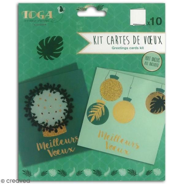 Kit cartes de voeux diy - L'or de Bombay - 13,5 x 13,5 cm - 10 pcs - Photo n°1