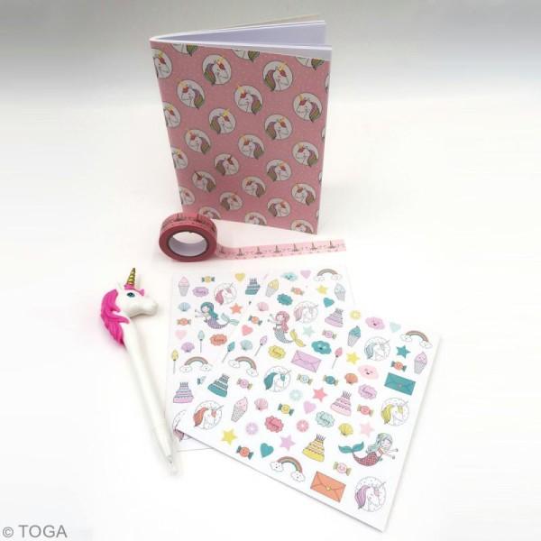 Kit papeterie enfant - Licorne et sirène -  pcs - Photo n°3