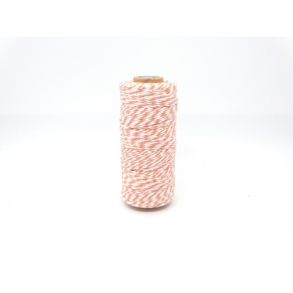 Ficelle bicolore Baker'sTwine - May arts - Orange - Photo n°1