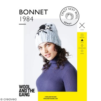Patron Tricot Wool and The Gang - Modèle Crazy Sexy Wool - Bonnet 1984 - niveau Facile
