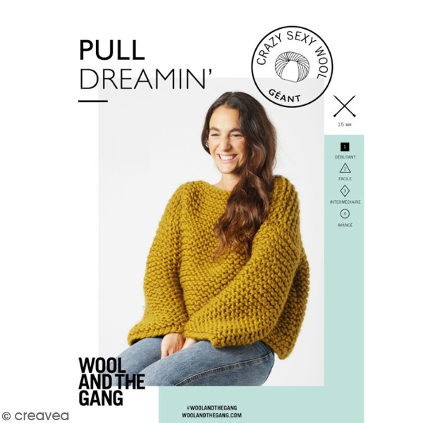 Patron Tricot Wool and The Gang - Modèle Crazy Sexy Wool - Pull Dreamin' - niveau Débutant - Photo n°1