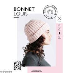 Patron Tricot Wool and The Gang - Modèle Feeling Good Yarn - Bonnet Louis -  niveau 4486f7cea19
