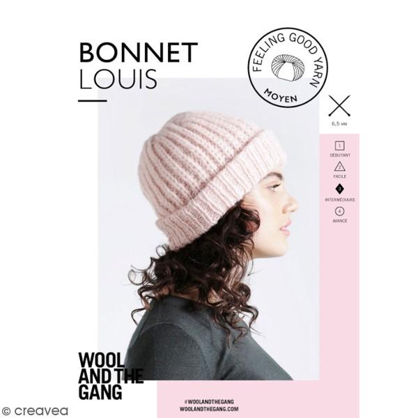 Patron Tricot Wool and The Gang - Modèle Feeling Good Yarn - Bonnet Louis - niveau Intermédiaire - Photo n°1