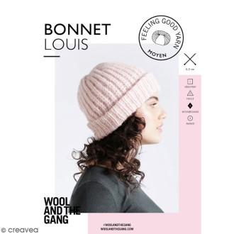 Patron Tricot Wool and The Gang - Modèle Feeling Good Yarn - Bonnet Louis - niveau Intermédiaire