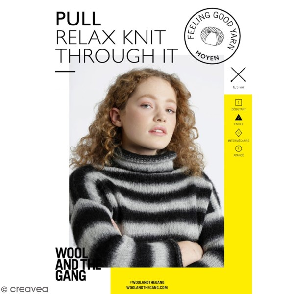 Patron Tricot Wool and The Gang - Modèle Feeling Good Yarn - Pull Relax  - niveau Facile - Photo n°1
