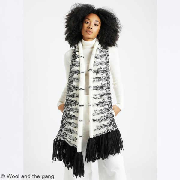 Patron Tricot Wool and The Gang - Modèle Feeling Good Yarn - Echarpe Wonderful - niveau Facile - Photo n°2