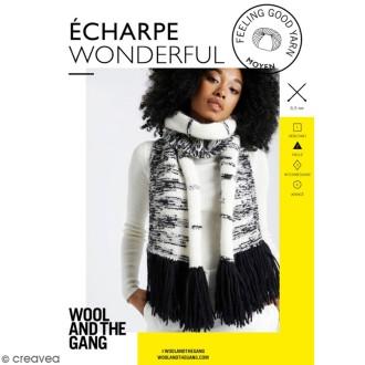 Patron Tricot Wool and The Gang - Modèle Feeling Good Yarn - Echarpe Wonderful - niveau Facile
