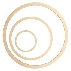 Cercles en bois à décorer - 13 à 40 cm - 3 pcs