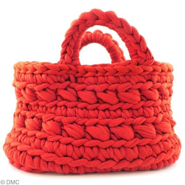 Ribbon XL DMC - Pelote Jersey rouge - 120 mètres - Photo n°2