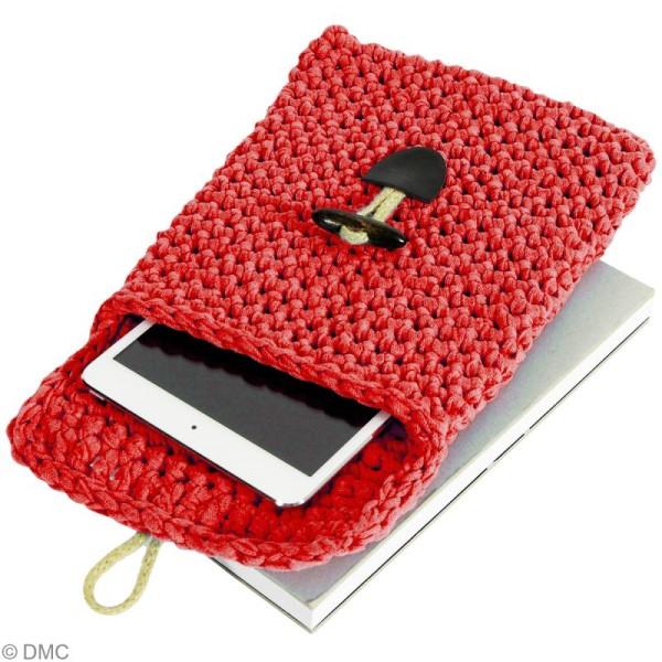 Ribbon XL DMC - Pelote Jersey rouge - 120 mètres - Photo n°4