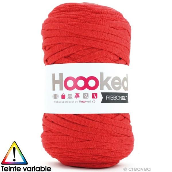 Ribbon XL DMC - Pelote Jersey rouge - 120 mètres - Photo n°1