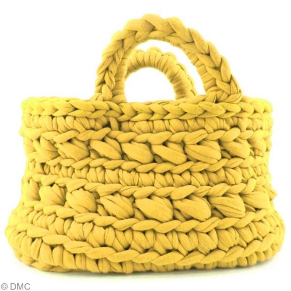 Ribbon XL DMC - Pelote Jersey jaune - 120 mètres - Photo n°4