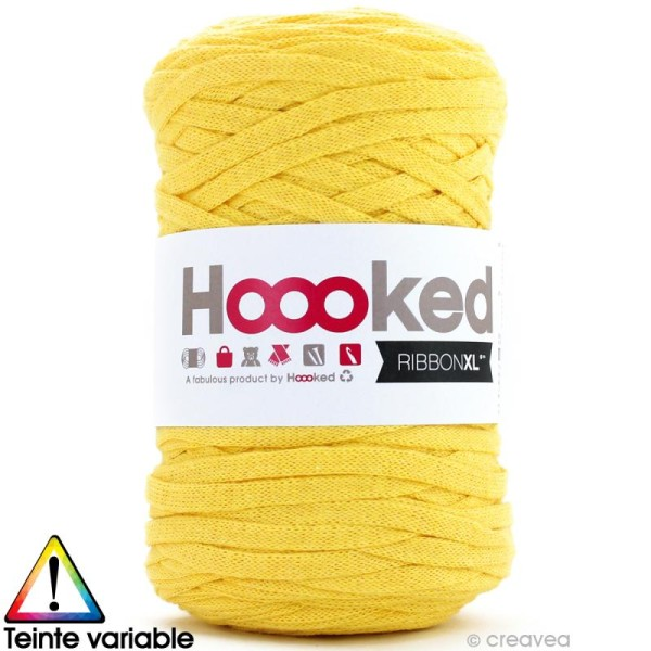 Ribbon XL DMC - Pelote Jersey jaune - 120 mètres - Photo n°1