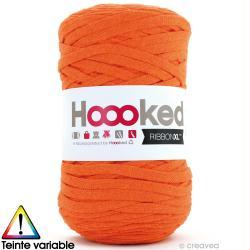 Ribbon XL DMC - Pelote Jersey orange - 120 mètres