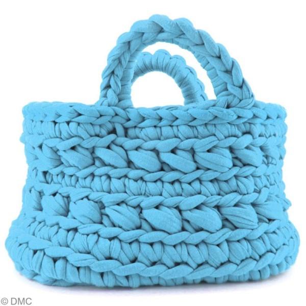 Ribbon XL DMC - Pelote Jersey bleue clair - 120 mètres - Photo n°4