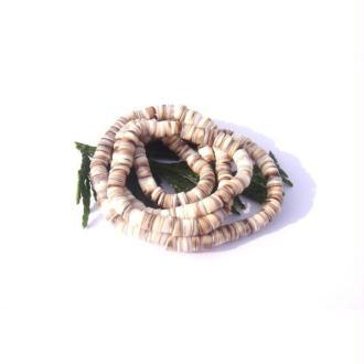 Conche ( coquillage  : 20 rondelles très irrégulières 5 MM de diamètre x 1/4 mm de tranche