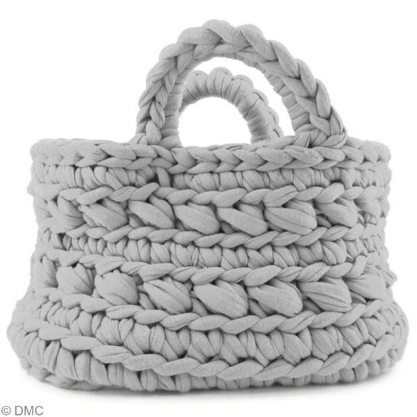 Ribbon XL DMC - Pelote Jersey grise clair - 120 mètres - Photo n°3