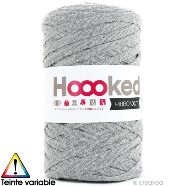 Ribbon XL DMC - Pelote Jersey grise clair - 120 mètres - Photo n°1