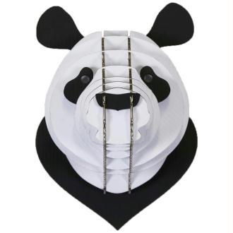 Trophée Panda en Carton Noir et Blanc M 15x20x15 Animatomy