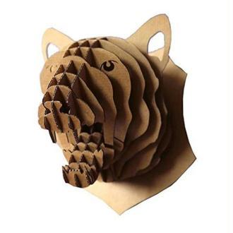 Trophée Tête de Panthère en Carton brun XL 28x24x27 cm Animatomy