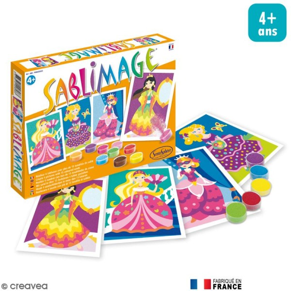 Kit Sablimage - Princesses - 4 tableaux - Photo n°1