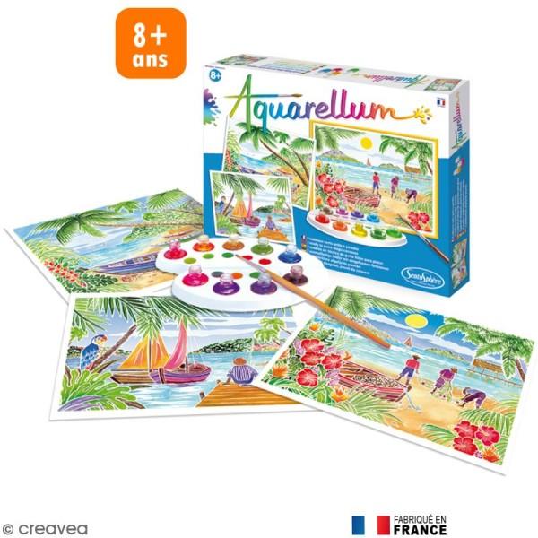 Jeu créatif Aquarellum Paysages tropicaux - Photo n°1