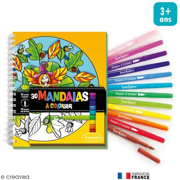 Kit Coloriage Mandalas Pour Enfant Carnet De Coloriage Et Feutres Coffret Coloriage Creavea