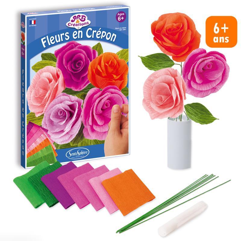 Kit Fleurs en crépon - Photo n°1