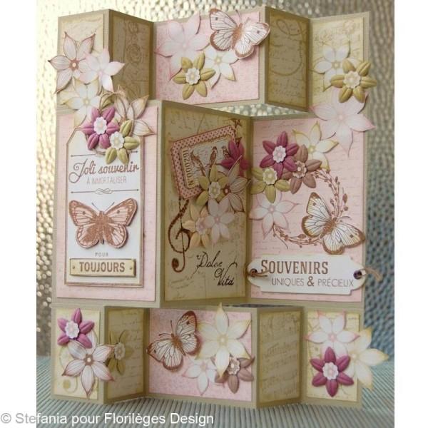 Tampon C'est le printemps - Couronne de fleurs - 6 x 6 cm - Photo n°2