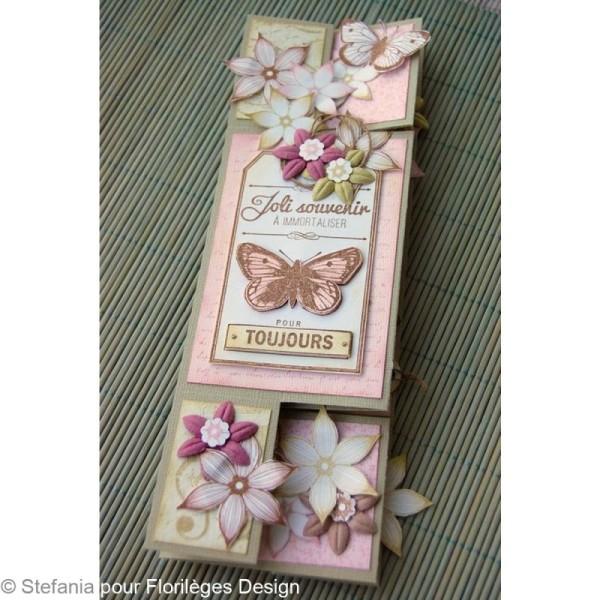 Tampon C'est le printemps - Couronne de fleurs - 6 x 6 cm - Photo n°3