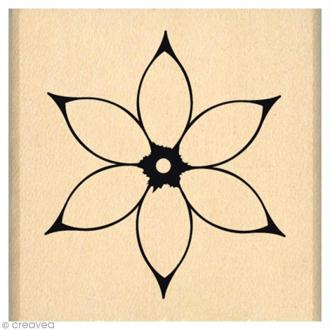 Tampon Envolée de douceurs - Jolie fleur blanche - 4 x 4 cm