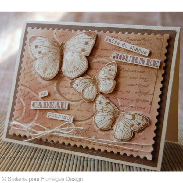 Tampon Envolée de douceurs - Vol de papillons - 10 x 13 cm - Photo n°2