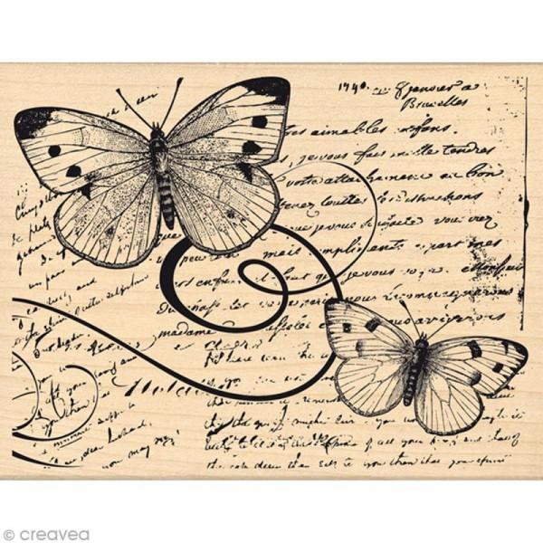 Tampon Envolée de douceurs - Vol de papillons - 10 x 13 cm - Photo n°1