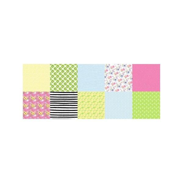 10 papiers scrapbooking 20 x 20 cm FABRIKA DECORU SHABBY MEMORY - Photo n°2