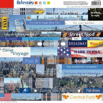 Stickers Cities x 45 - New York - 1 planche 30,5 x 30,5 cm