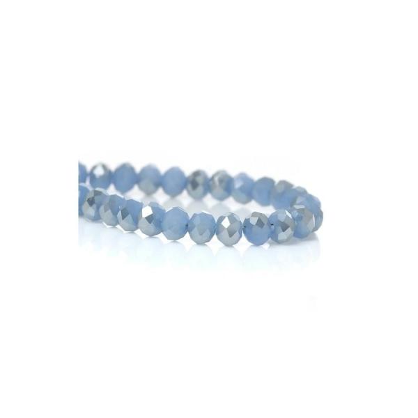 Perles Cristal en Verre Plat-Rond bleu à Facettes 4mm 1 Enfilade(Env.148PCs - Photo n°1