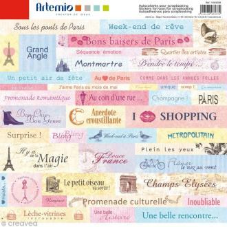 Stickers Cities x 45 - Paris - 1 planche 30,5 x 30,5 cm