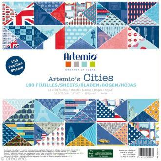 Papier scrapbooking Artemio - Cities - 180 feuilles 30,5 x 30,5 cm